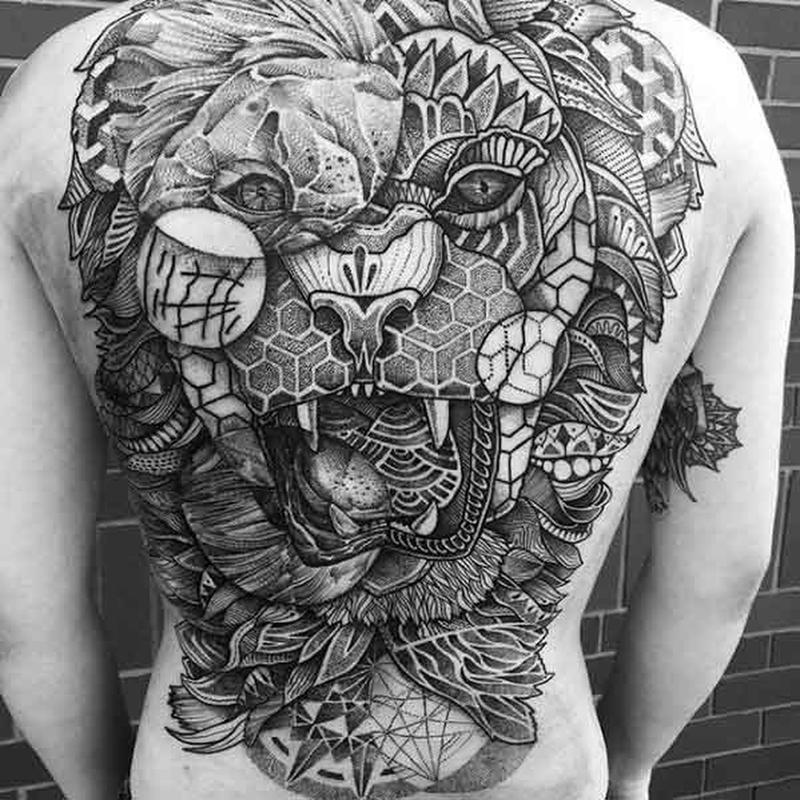 The Best Geometric Back Tattoos Money Can Buy The Brofessional
